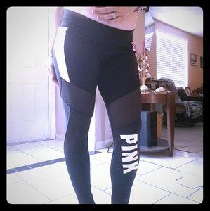Nip, vs pink flat mesh yogas with side pockets
